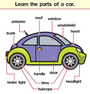 English Kids Fun Parts Of A Car